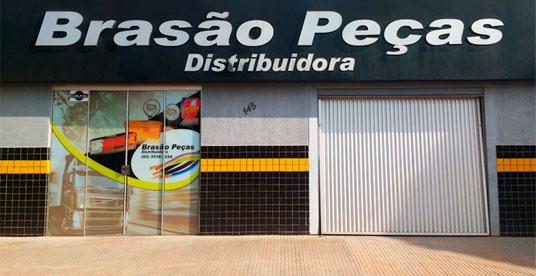 Brasão Peças: Somos uma distribuidora de autopeças elétricas e componentes eletrônicos para o segmento automotivo.